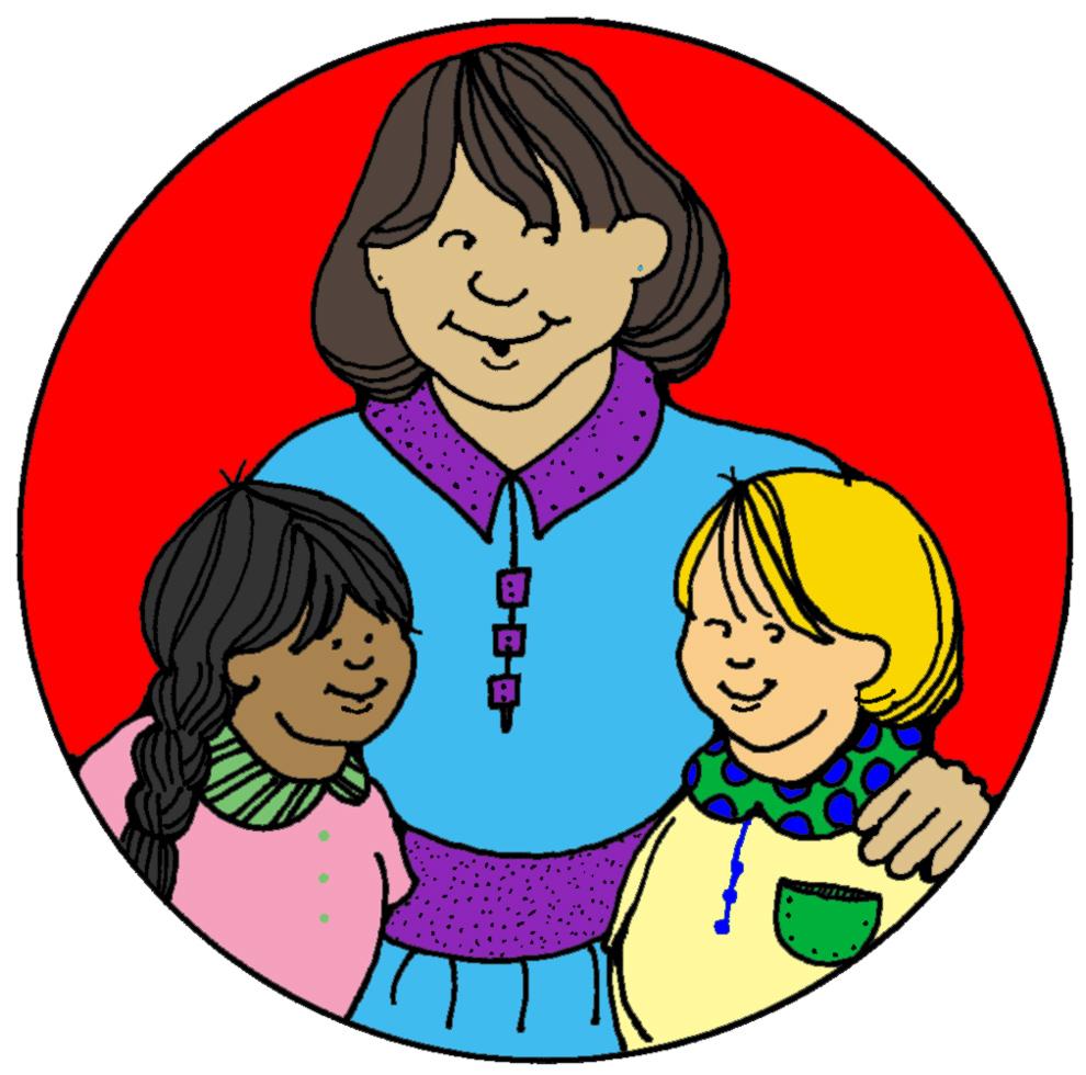 disegno di Mamma e Figli a colori