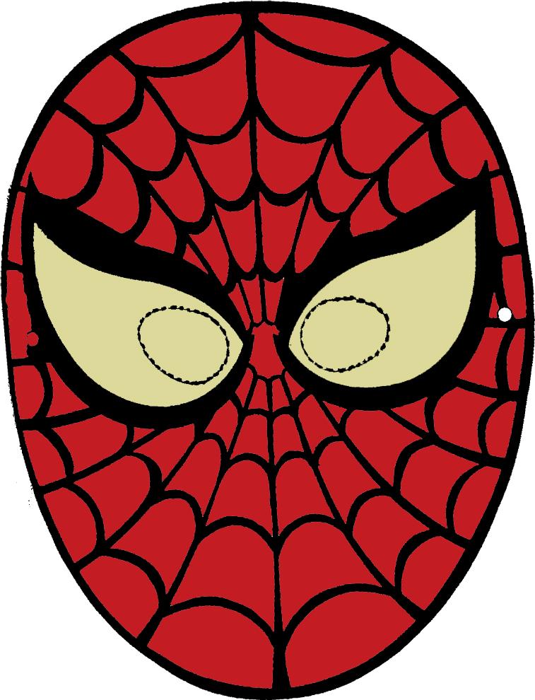 Stampa disegno di maschera di spiderman da ritagliare a colori for Immagini da colorare spiderman