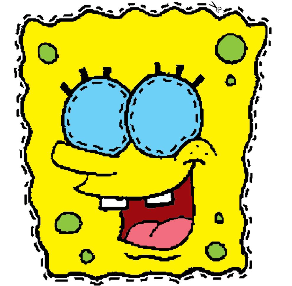 Sta disegno maschera spongebob ritagliare colori pictures