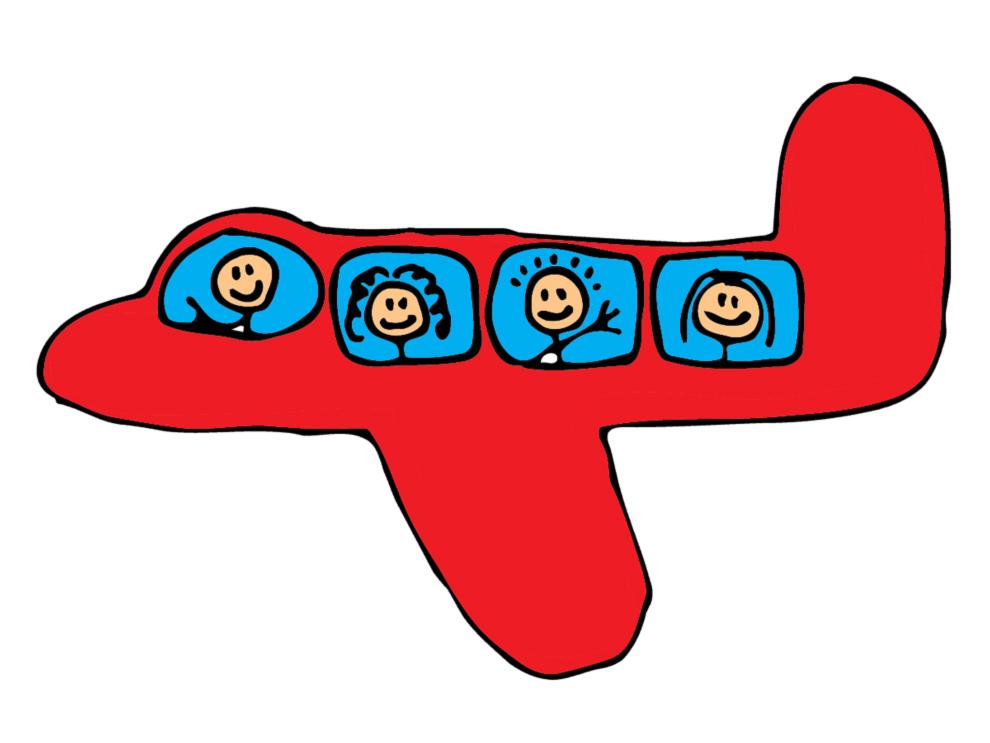 Stampa disegno di Aeroplano a colori