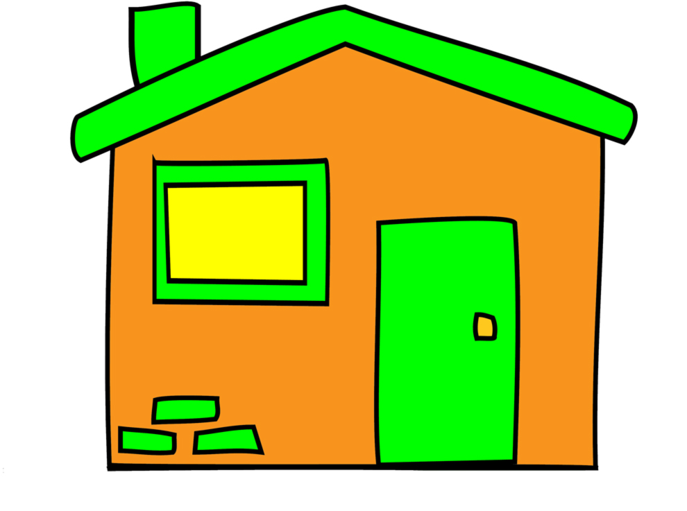 Stampa disegno di la casetta a colori - Casetta in cartone da colorare ...