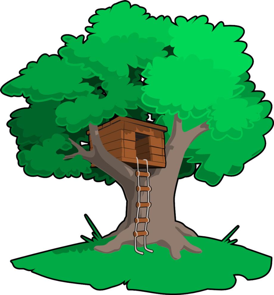 Stampa disegno di casa sull 39 albero a colori for Disegni di casa compatti