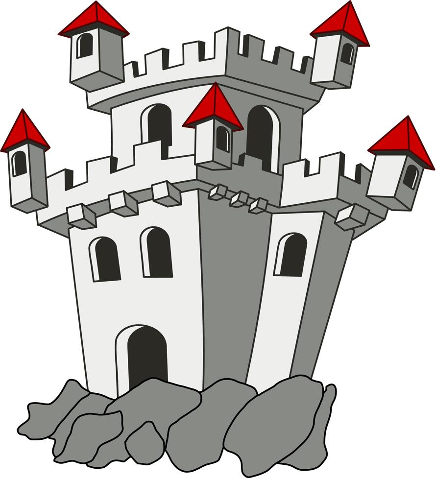 Stampa disegno di il castello a colori for Disegni casa castello