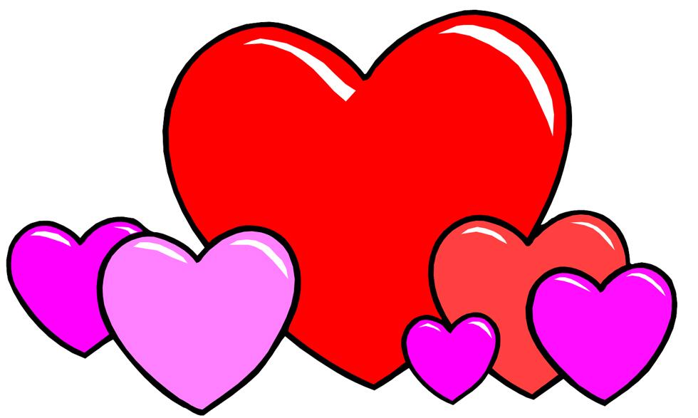 Disegni cuori colorati for Immagini di cuori rossi