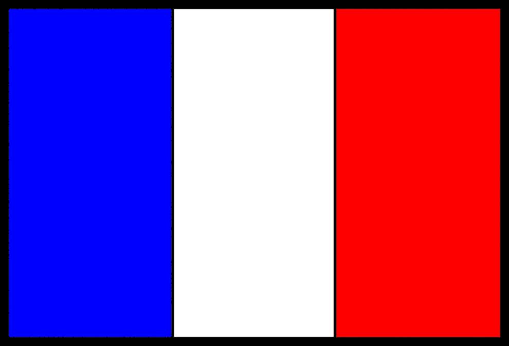 Stampa disegno di bandiera francese a colori - Immagini francesi da stampare ...
