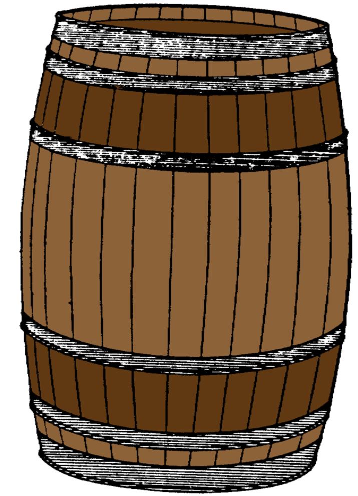 disegno di Barile di Legno a colori