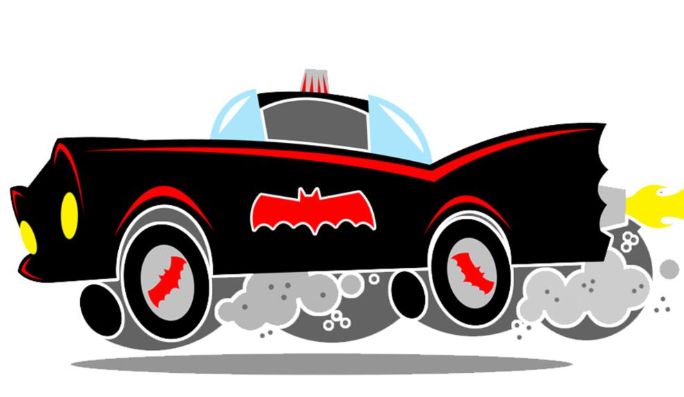 disegno di Batmobile a colori
