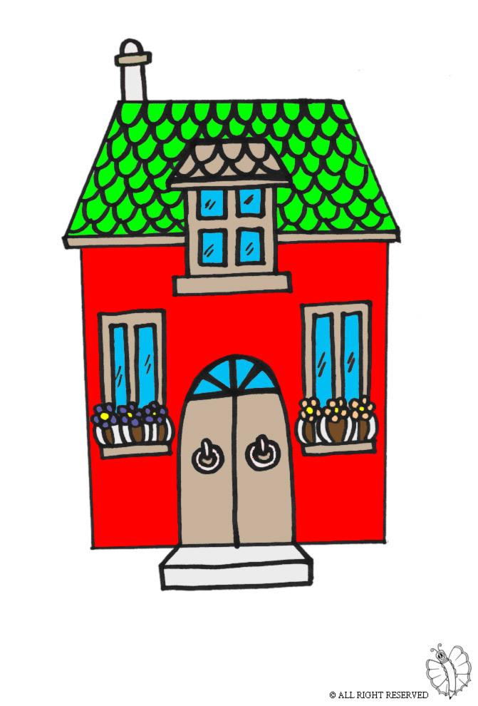 Stampa disegno di casetta a colori for Disegni di case toscane