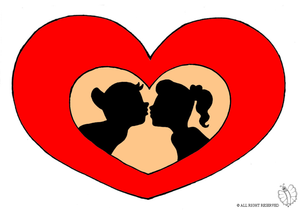 Stampa Disegno Di Cuore San Valentino A Colori