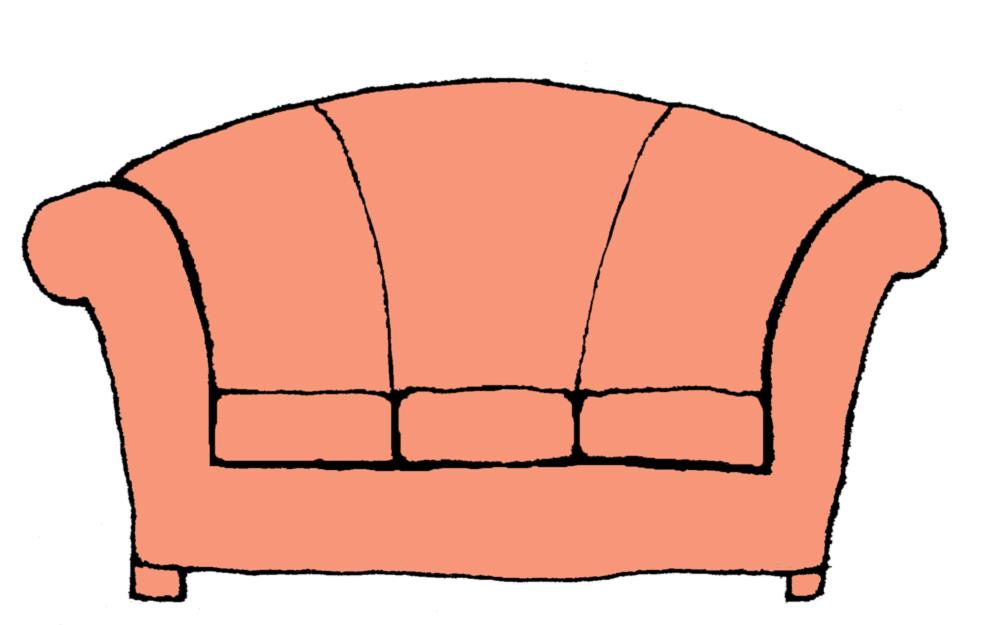 Stampa disegno di divano a colori for Divano disegno