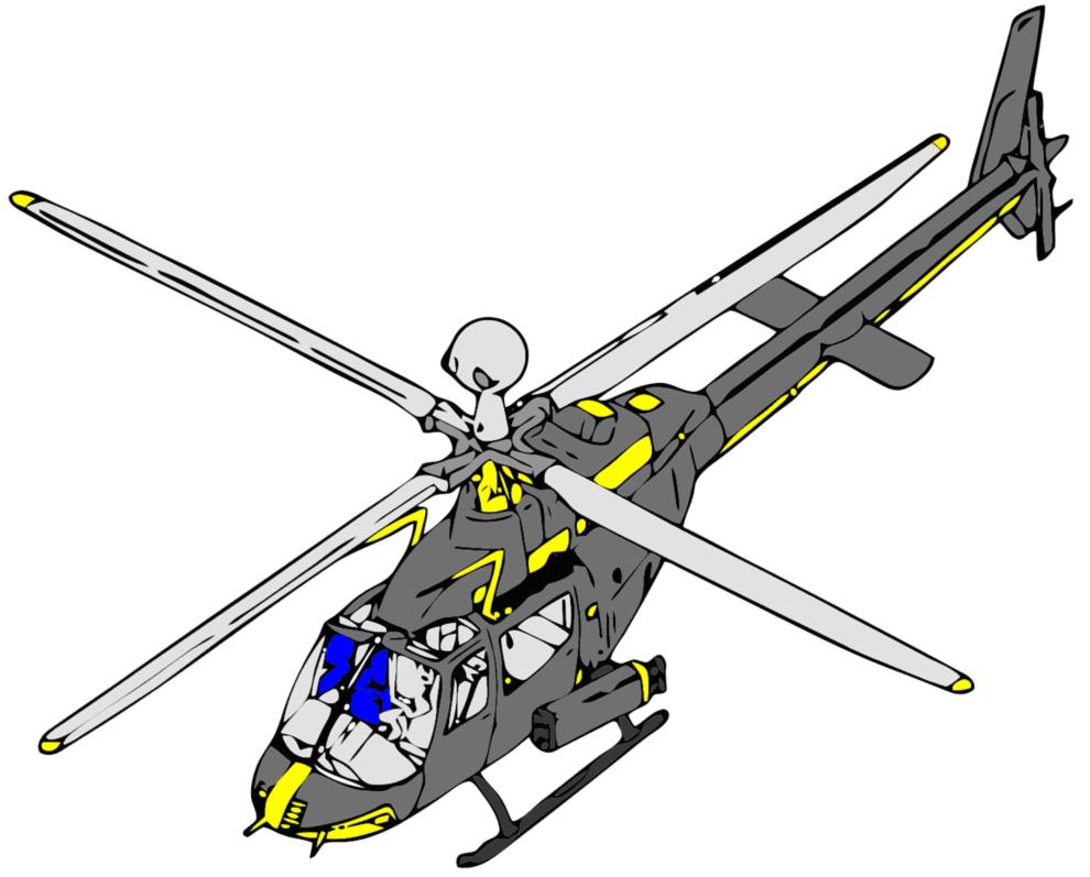 Elicottero Disegno : Stampa disegno di elicottero a colori