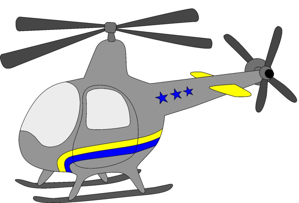 Stampa Disegno Di Piccolo Elicottero A Colori