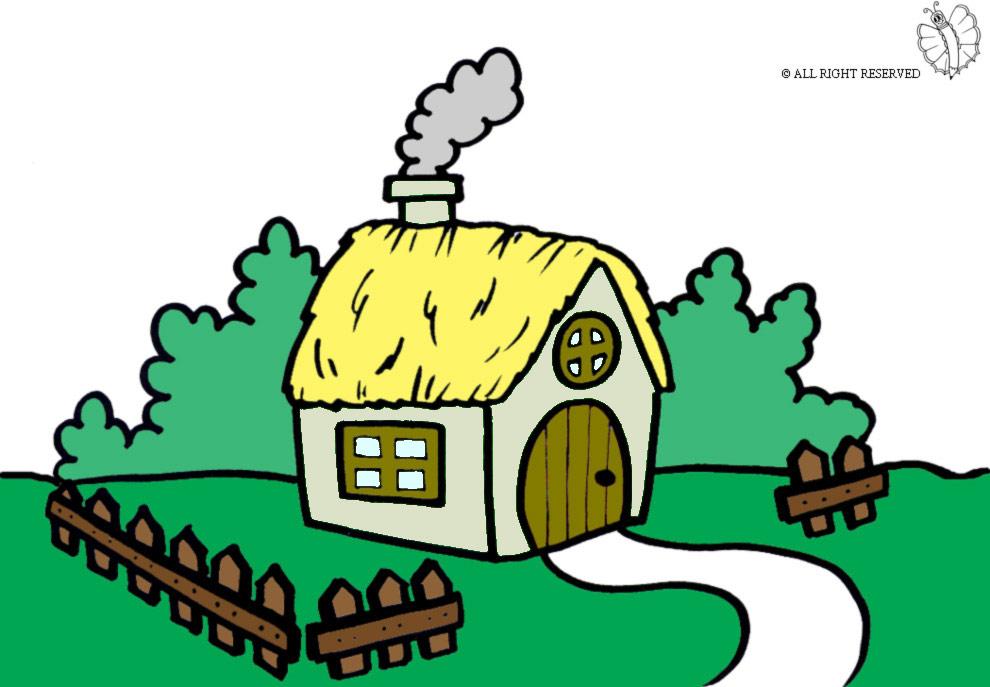 Stampa disegno di fattoria a colori for Casa disegno