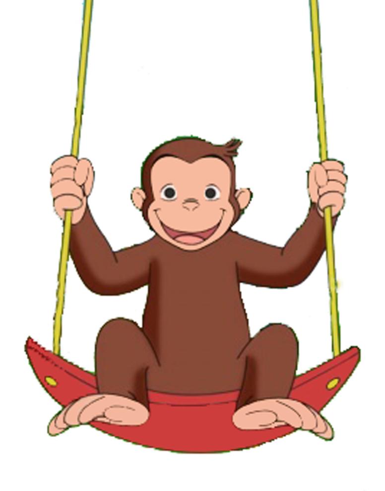 Stampa disegno di george scimmia a colori