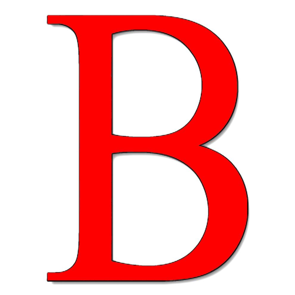 Stampa disegno di Lettera B a colori