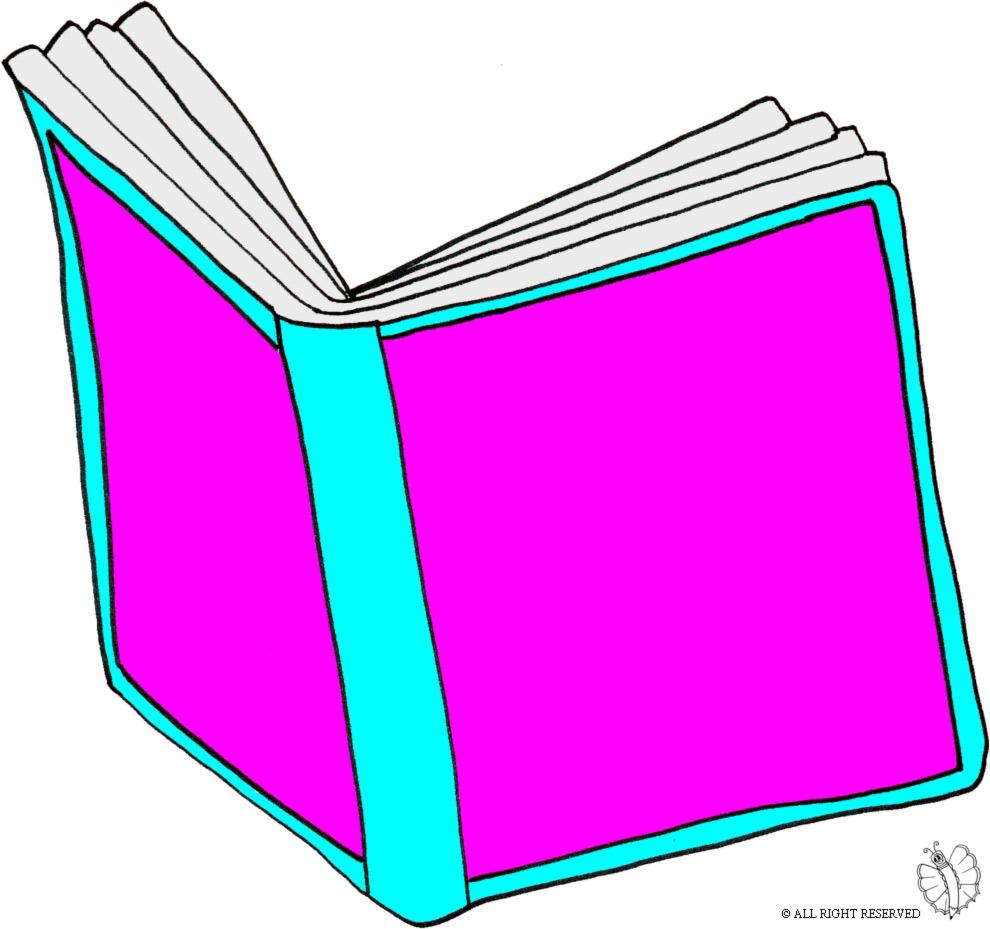 Stampa disegno di libro aperto a colori - Libro immagini a colori ...