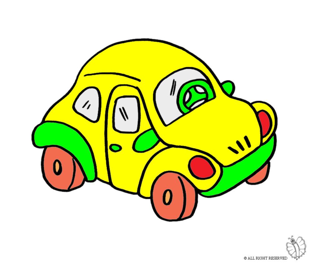 Stampa disegno di maggiolino a colori for Disegni da colorare e stampare di cars