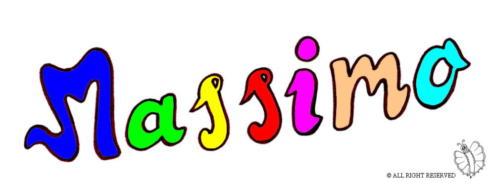 disegno di Massimo a colori