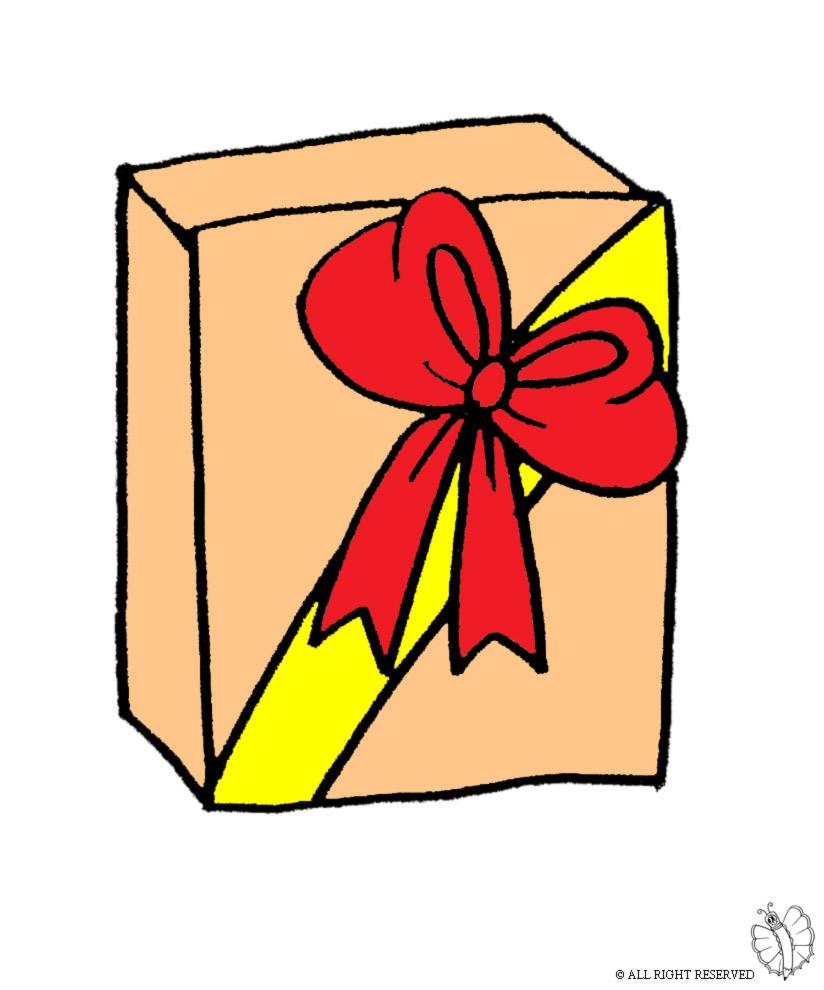 Stampa disegno di pacco regalo a colori for Immagini di pacchetti regalo