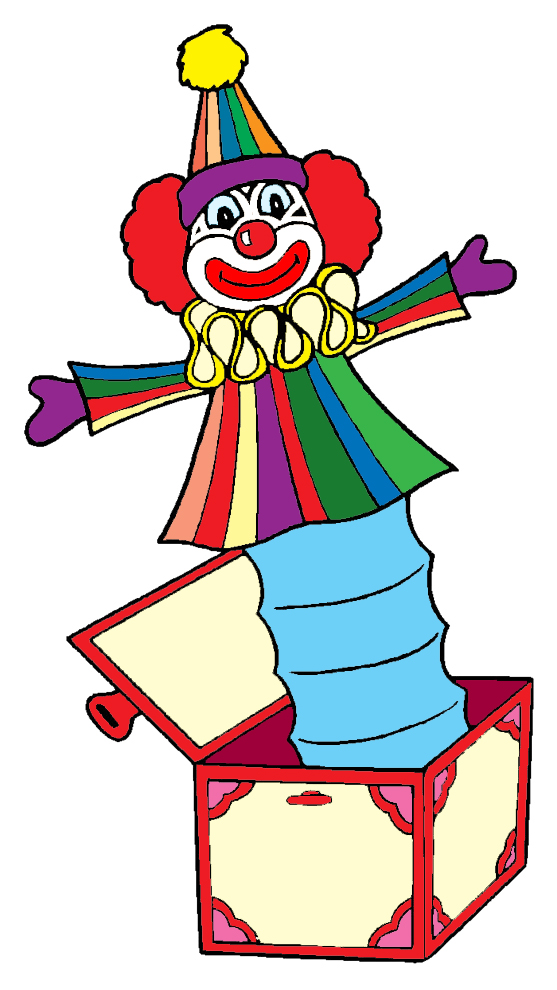 Stampa disegno di pagliaccio nella scatola a colori for Immagini di clown da colorare