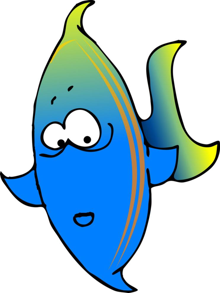 Stampa disegno di pesce tropicale a colori for Immagini di pesci disegnati