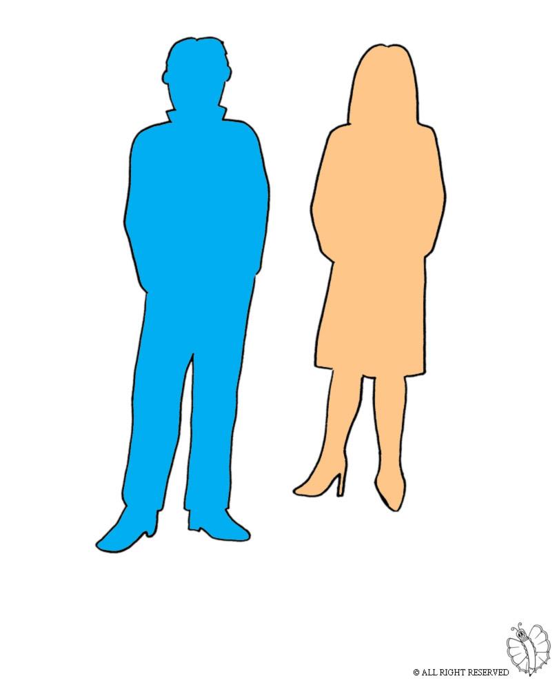 disegno di Uomo e Donna a colori