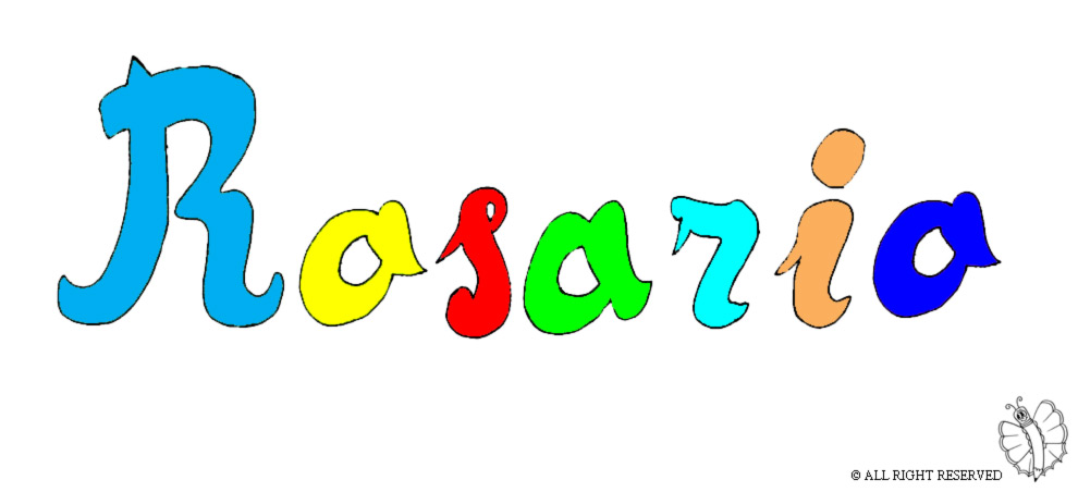 disegno di Rosario a colori