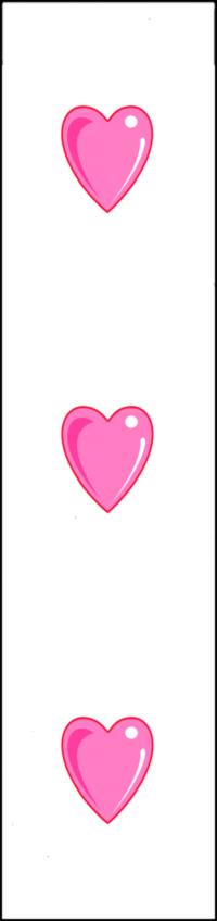 disegno di Segnalibro Cuoricini a colori