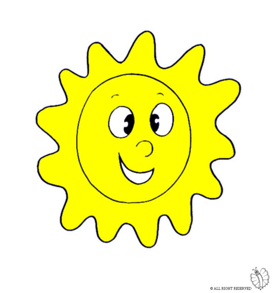 Stampa disegno di sole a colori for Immagini sole da colorare