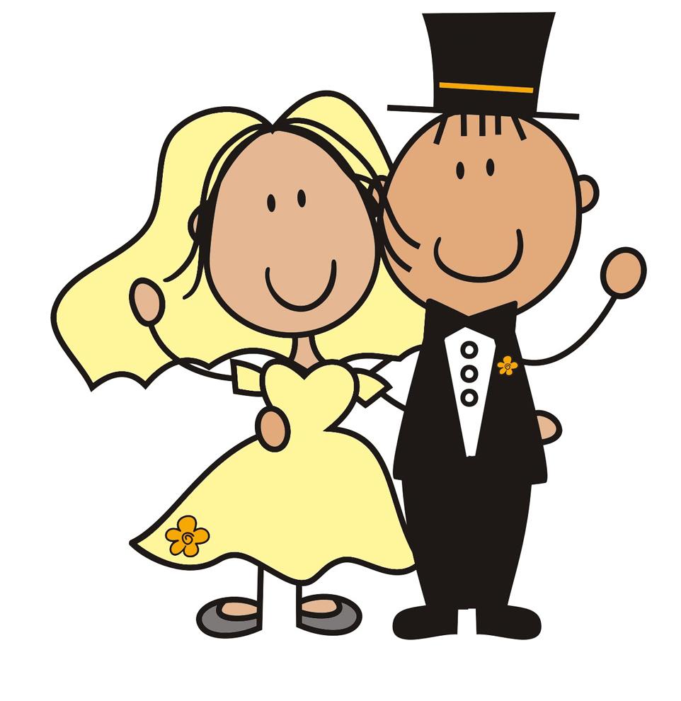 Stampa disegno di sposi a colori for Immagini matrimonio da stampare