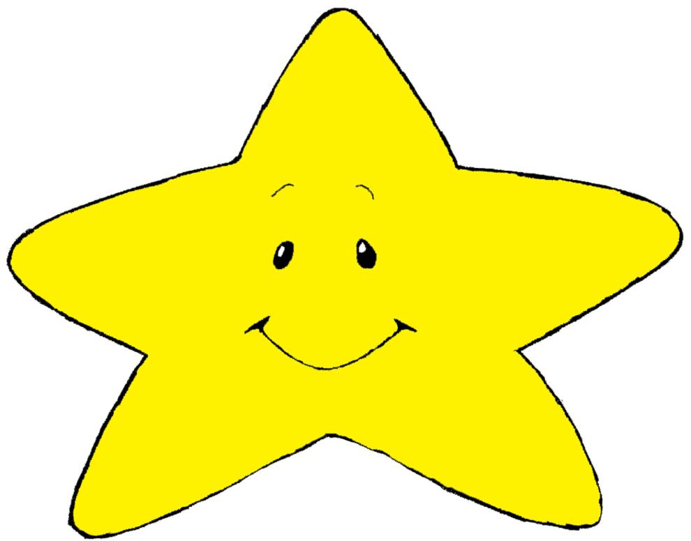 Stampa disegno di stellina con sorriso a colori