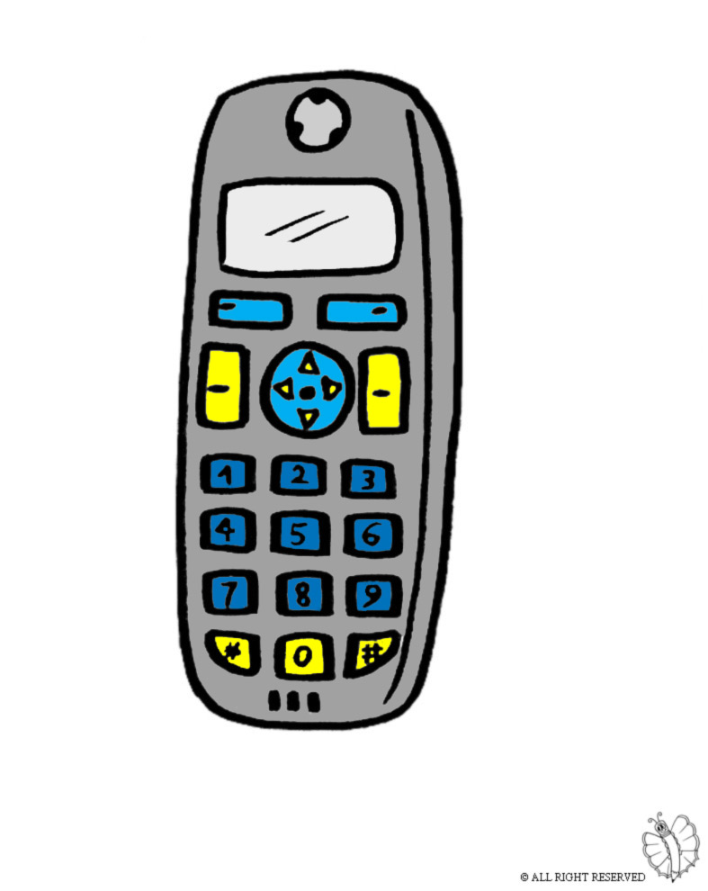 Stampa disegno di telefonino cellulare a colori for Immagini per cellulari gratis