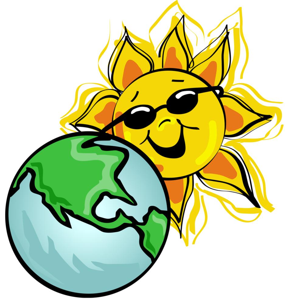Stampa disegno di la terra e il sole a colori - Immagine da colorare della terra ...