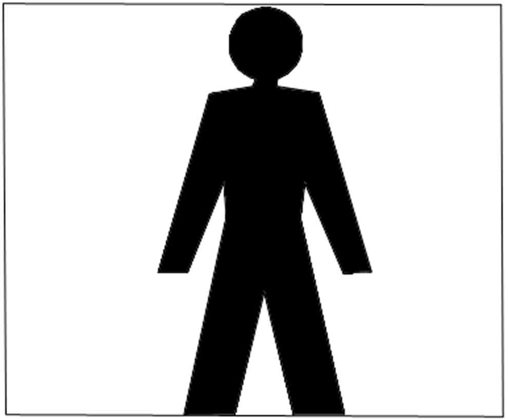 Stampa disegno di wc uomo a colori for Disegno bagno online
