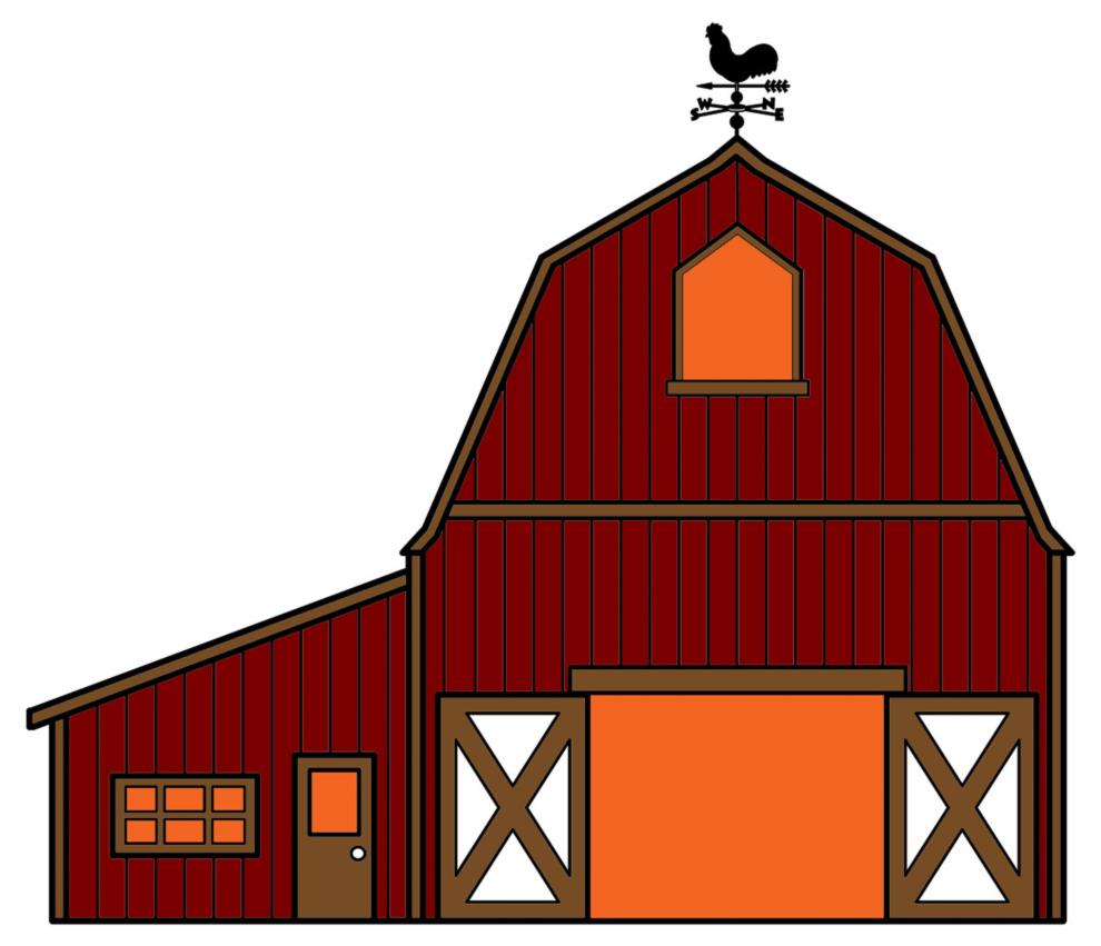 Stampa disegno di fattoria a colori for Piani di riproduzione della fattoria