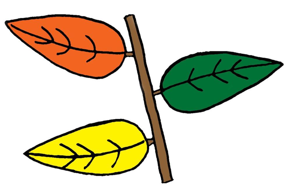Stampa disegno di le foglie a colori - Modello di foglia per bambini ...