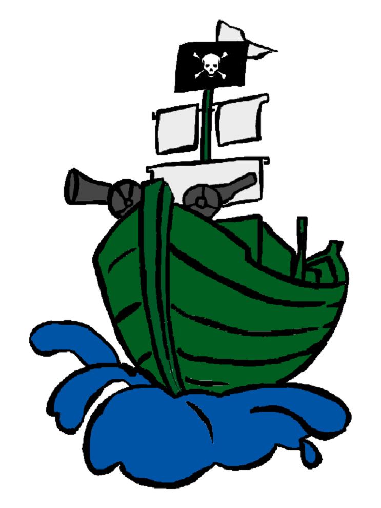 Stampa disegno di nave pirata a colori - Immagini fantasma a colori ...