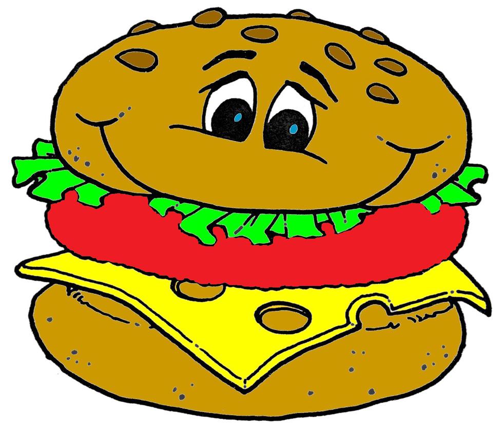 Stampa disegno di panino a colori