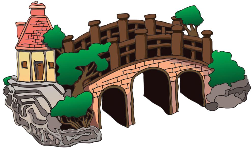 stampa disegno di il ponte a colori