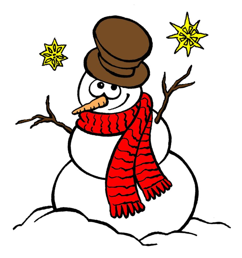 Stampa disegno di pupazzo di neve a colori - Pupazzo di neve pagine da colorare ...