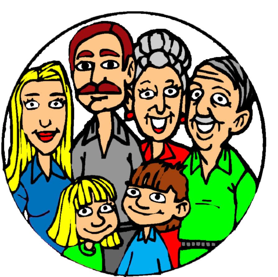 disegno di Quadretto di Famiglia a colori