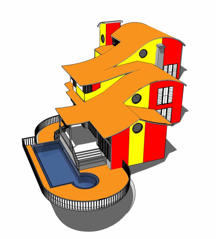 Stampa disegno di casa in 3d a colori for Disegni di case di tronchi