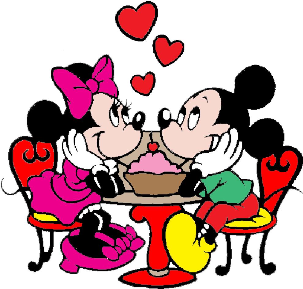 Stampa disegno di minnie e topolino innamorati a colori for Disegni disney da copiare