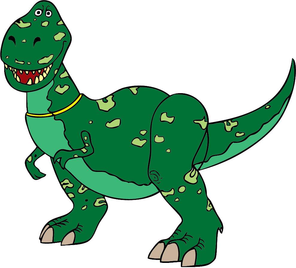 Stampa disegno di rex dinosauro toy story a colori - Stampa pagine da colorare dinosauro ...