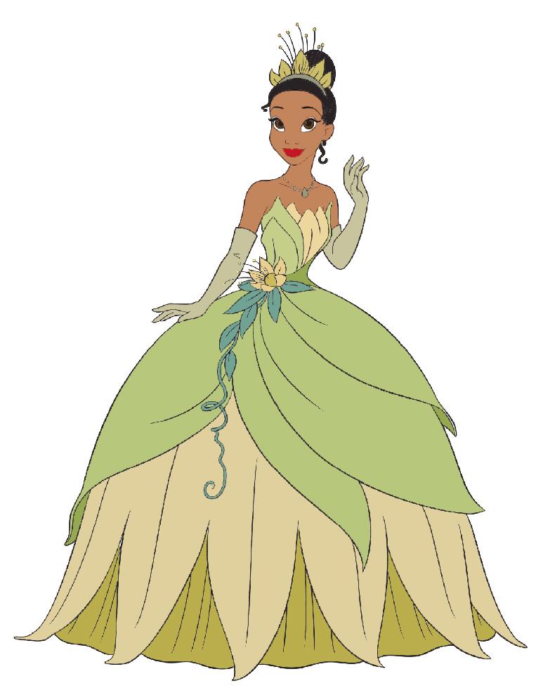 la principessa tiana disney colorata