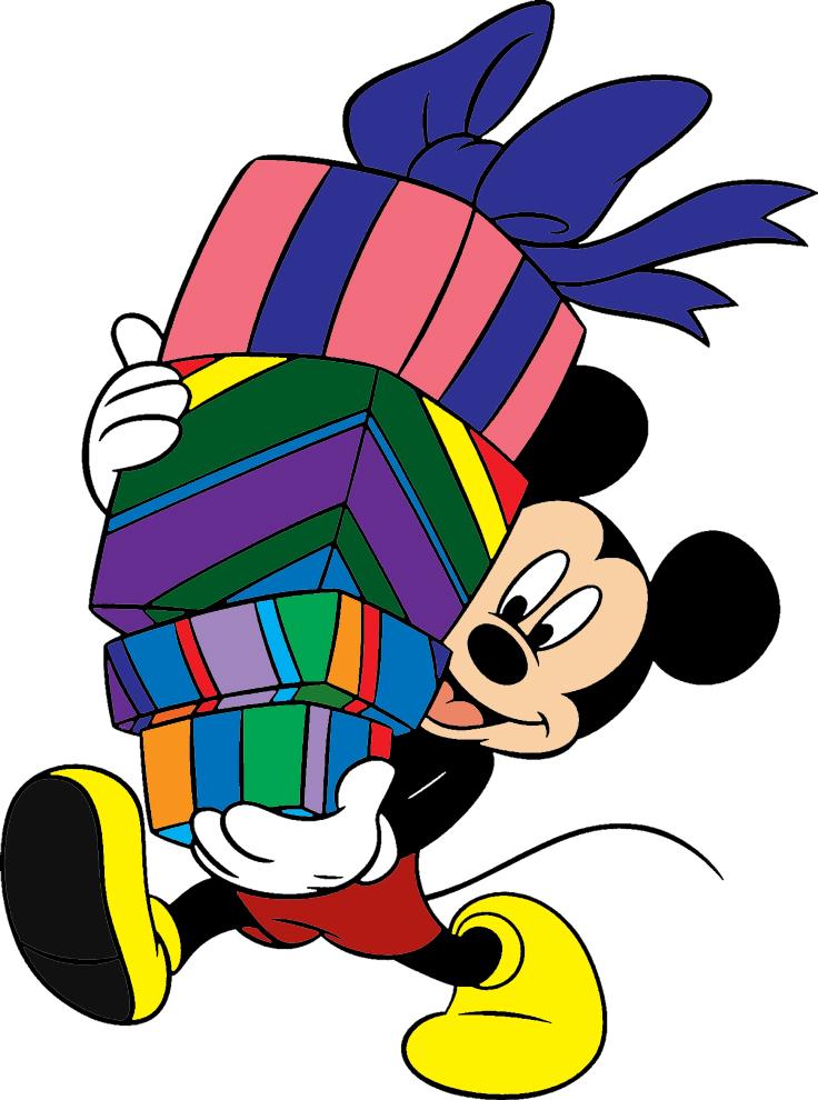 Stampa disegno di topolino con i regali a colori - Immagini a colori di natale gratis ...