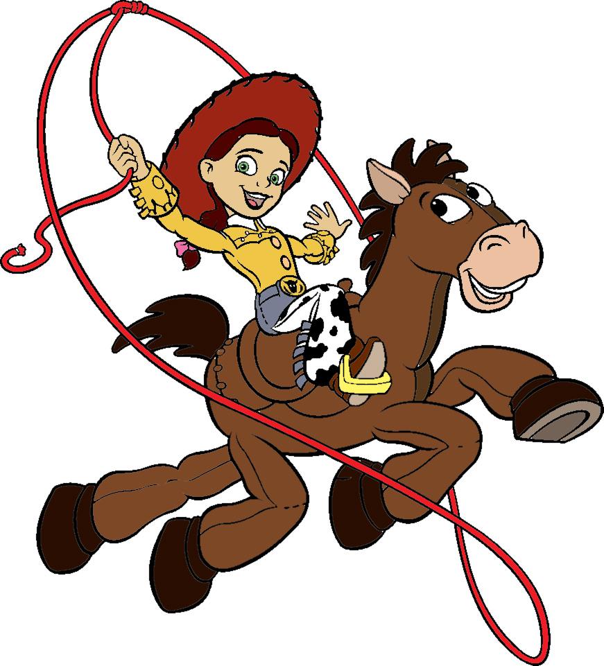 Stampa disegno di jessie a cavallo a colori for Disegno cavallo per bambini