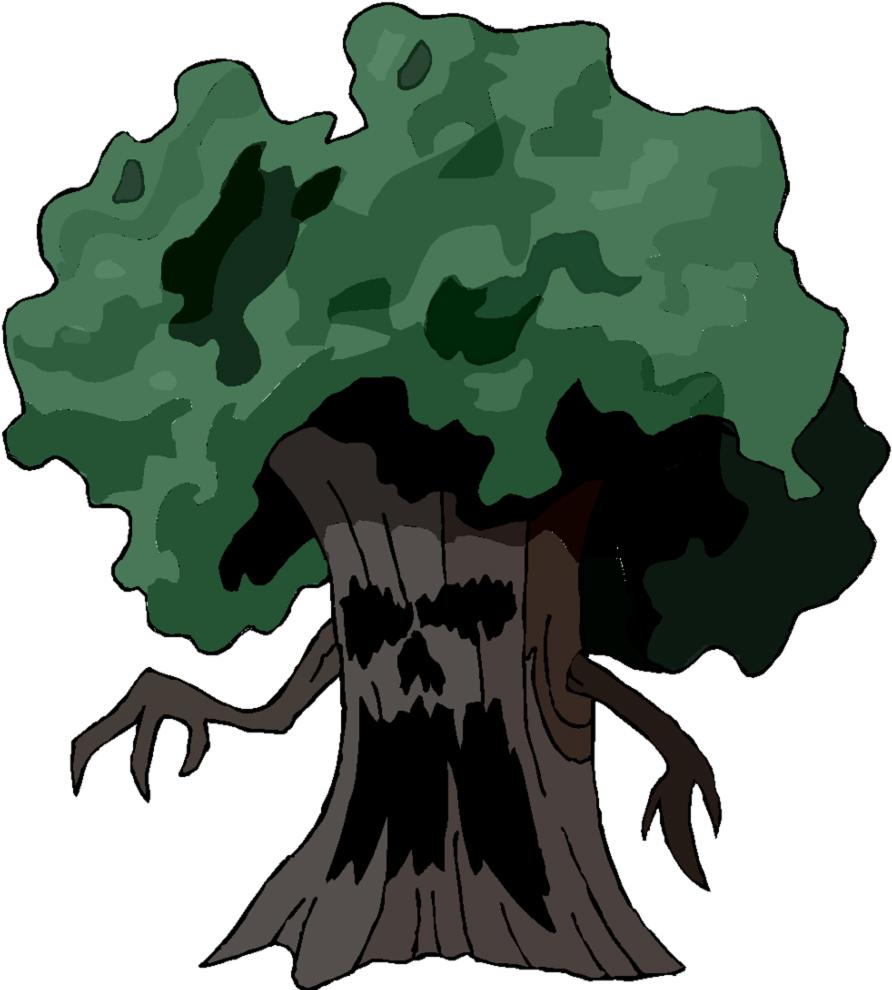 Stampa disegno di albero stregato a colori for Foto di alberi da colorare
