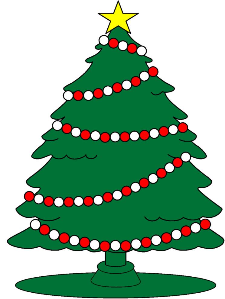 Stampa disegno di albero con stella di natale a colori - Immagini a colori di natale gratis ...