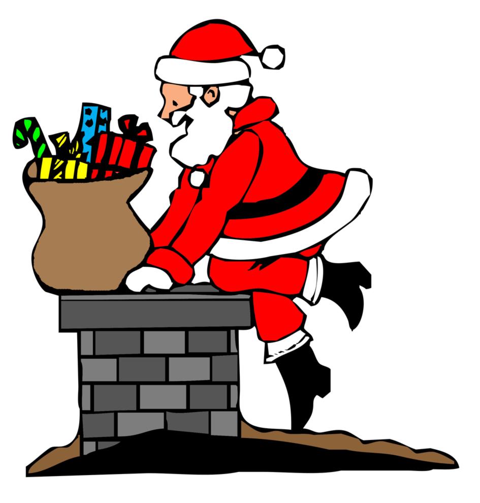 Camino Di Babbo Natale.Stampa Disegno Di Babbo Natale Nel Camino A Colori